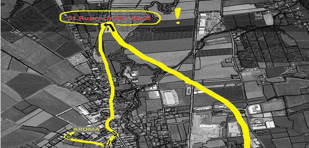 Umleitung Neubau Weizbachbrücke L362 Bildausschnitt
